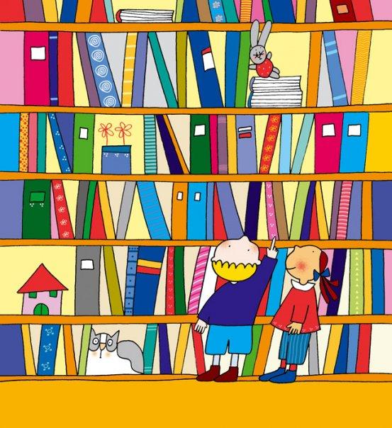 Resultado de imagen de biblioteca dibujos animados