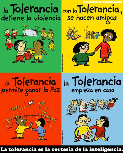 Cita la tolerancia es la cortes a de la inteligencia for Accion educativa espanola en el exterior