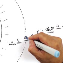 Videos animados con ilustraciones de Guillo acercan la astronomía a todo público